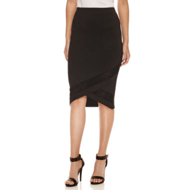 jcpenney.com | Bisou Bisou Illusion Pencil Skirt