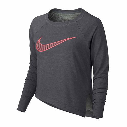 Nike Long Sleeve Asymmetrical T-Shirt