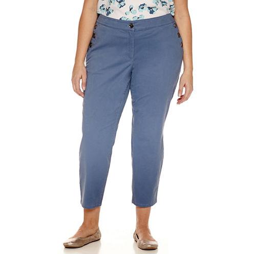 Liz Claiborne Classic Fit Ankle Pants-Plus