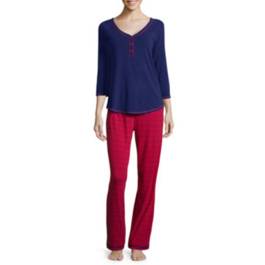 jcpenney.com | Sleep Chic® 3/4-Sleeve Knit Pajama Set