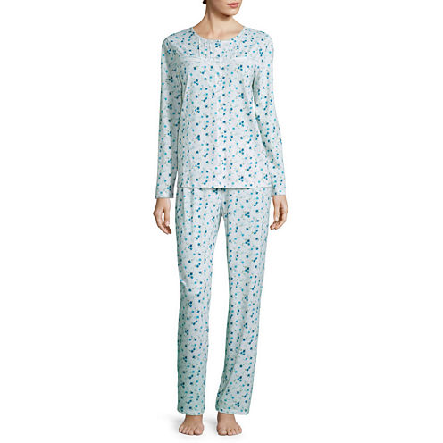Adonna Jersey Long Sleeve Pant Pajama Set