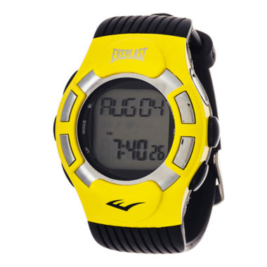 jcpenney.com | Everlast® Mens Heart Rate Monitor Yellow Bezel Sport Watch