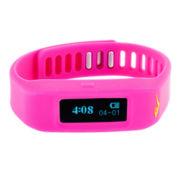 Everlast® Womens Activity Tracker Pink Silicone Strap Digital Sport Watch