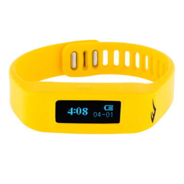 jcpenney.com | Everlast® Activity Tracker Yellow Silicone Strap Digital Sport Watch