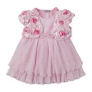 Nanette Baby 2-pc. Shrug and Dress Set – Girls 3m-24m