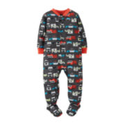 Carter's® Long-Sleeve Footed Rescue Vehicle Pajamas – Boys 12-24m