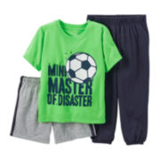 Carter's® 3-pc. Mix-and-Match Soccer Pajama Set – Boys 12-24m
