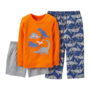 Carter's® 3-pc. Mix-and-Match Dinosaur Pajama Set – Boys 2t-5t