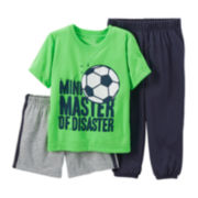 Carter's® 3-pc. Mix-and-Match Soccer Pajama Set – Boys 2t-5t