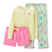 Carter's® 3-pc. Mix-and-Match Candy Pajama Set – Girls 12-24m