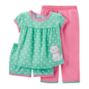 Carter's® 3-pc. Mix-and-Match Dog Pajama Set – Girls 12-24m