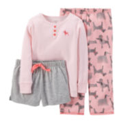 Carter's® 3-pc. Mix-and-Match Dog Pajama Set – Girls 2t-5t
