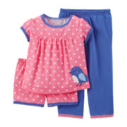 Carter's® 3-pc. Mix-and-Match Bird Pajama Set – Girls 2t-5t