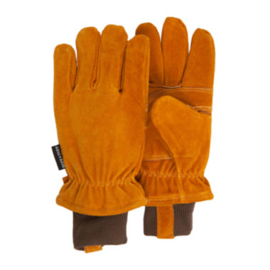 jcpenney.com | QuietWear® Insulated Split-Leather Gloves