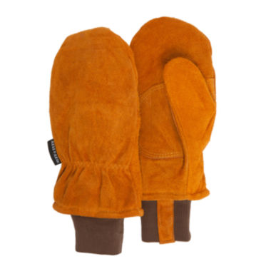 jcpenney.com | QuietWear® Insulated Split Leather Cuff Mittens