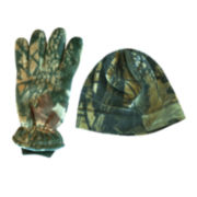 QuietWear® 2-pc. Insulated Fleece Beanie and Gloves Set