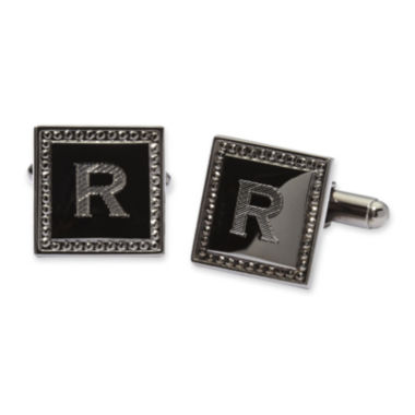 jcpenney.com | Personalized Square Gun Metal Cuff Links
