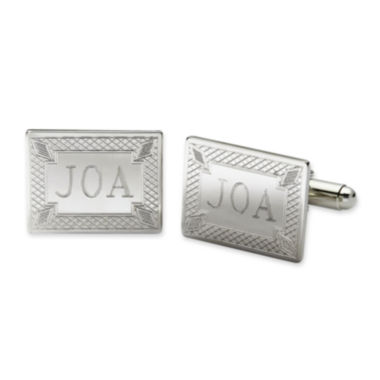 jcpenney.com | Personalized Diamond Pattern Cuff Links