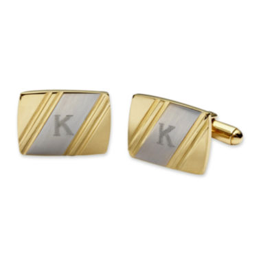jcpenney.com | Personalized Two-Tone Facet-Cut Cuff Links