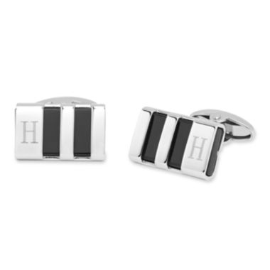jcpenney.com | Personalized Stainless Steel & Enamel Cuff Links