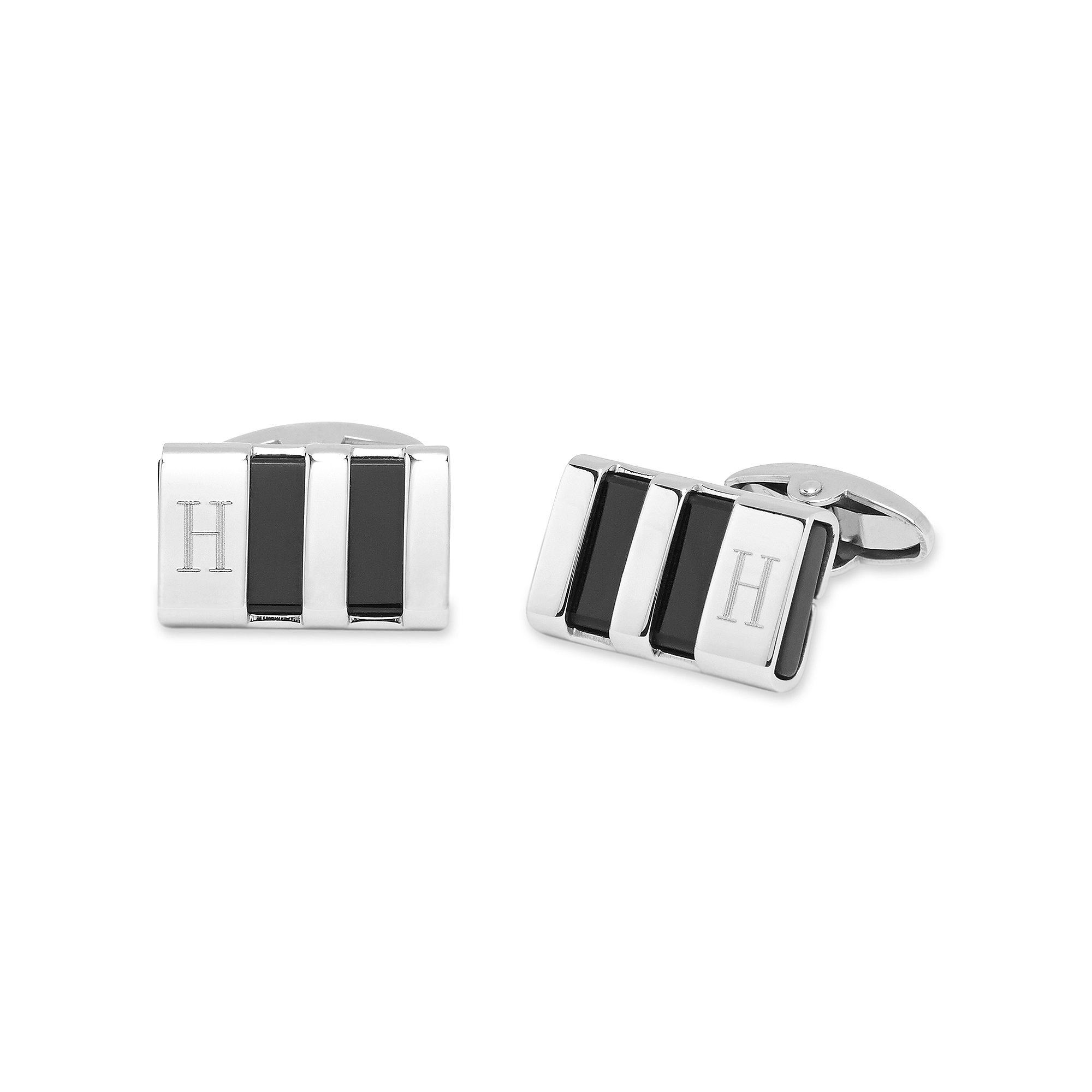 Personalized Stainless Steel & Enamel Cuff Links