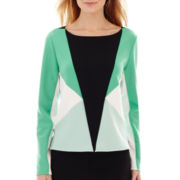 Worthington® Long-Sleeve Scuba Knit Colorblock Top