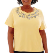 Alfred Dunner® Fresh Take Short-Sleeve Embroidered Top - Plus