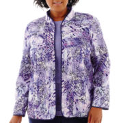Alfred Dunner® Newport Pintuck Floral Jacket - Plus