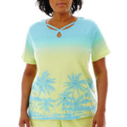 Alfred Dunner® Hint of Lime Short-Sleeve Scenic Top - Plus