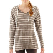 City Streets® Long-Sleeve Hooded Pullover Tunic