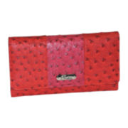 Buxton® Ostrich-Embossed Pop Panel Expandable Clutch Wallet