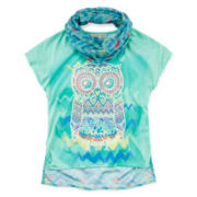 Self Esteem® Graphic Tee and Scarf - Girls 7-16 and Plus