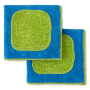 JCPenney Home™ Utility Set of 2 Dishcloths with Scrubbers