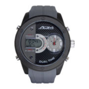 ADM Sport Twin Cities Mens Gray Silicone Strap Analog Digital Watch