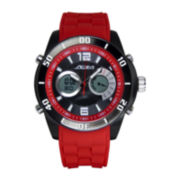 ADM Sport Twin Cities Mens Red Silicone Strap Analog Digital Watch