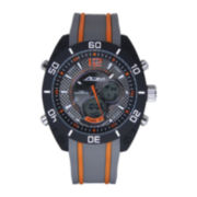 ADM Sport Twin Cities Mens Orange Racing Stripe Analog Digital Watch