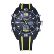 ADM Sport Twin Cities Yellow Racing Stripe Analog Digital Watch
