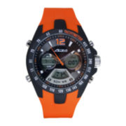 ADM Sport Twin Cities Mens Orange Silicone Strap Analog Digital Watch