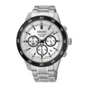 Seiko® Special Value Mens Stainless Steel Chronograph Bracelet Watch