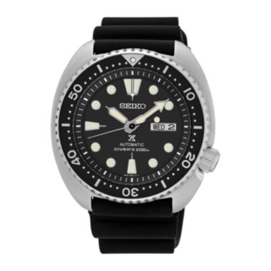 jcpenney.com | Seiko® Prospex Mens Black Silicone Automatic Diver Bracelet Watch