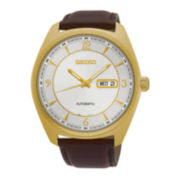 Seiko® Recraft Mens Gold-Tone Champagne Automatic Bracelet Watch