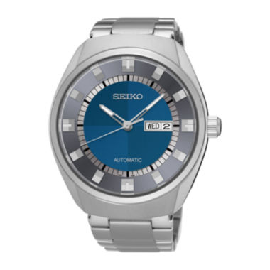 jcpenney.com | Seiko® Recraft Mens Stainless Steel Blue Automatic Bracelet Watch