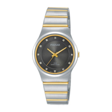 jcpenney.com | Pulsar® Womens Crystal-Accent Two-Tone Bracelet Watch