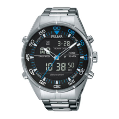 jcpenney.com | Pulsar® Mens Black Analog/Digital Chronograph Watch