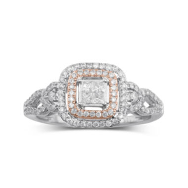 jcpenney.com | 1/2 CT. T.W. Diamond 10K Two-Tone Gold Bridal Ring