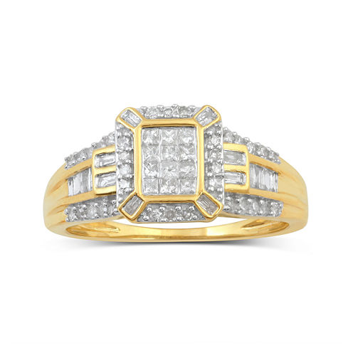 1/2 CT. T.W. Diamond 10K Yellow Gold Bridal Ring