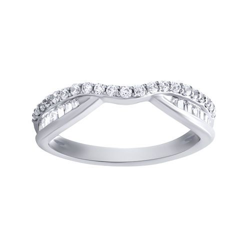 1/2 CT. T.W. Diamond 10K White Gold Band Ring