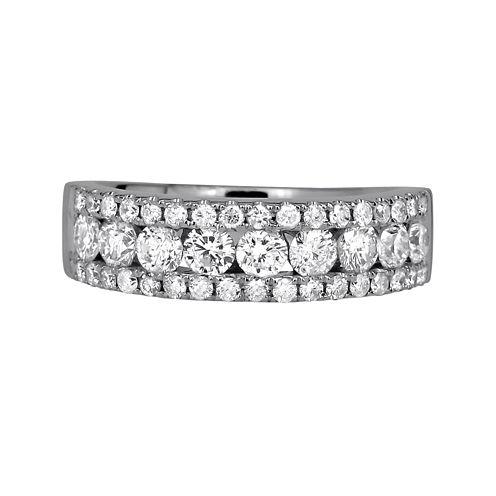 1 ½ CT. T.W. Diamond 14K White Gold Band