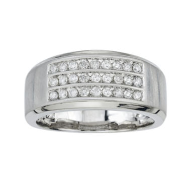 jcpenney.com | Mens 1/2 CT. T.W. Diamond 10K White Gold Diamond Band