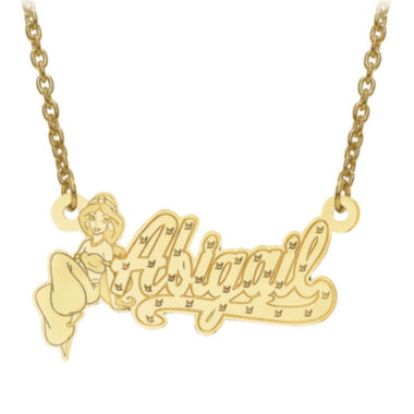 jcpenney.com | Disney Personalized Kids Diamond Cut Jasmine Name Necklace